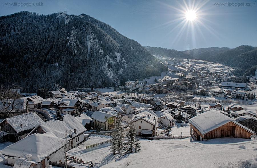 Dolomiti,Vista su Corvara,Dolomiti