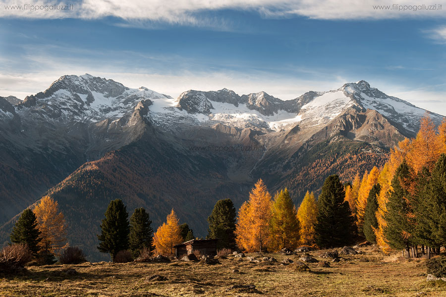 valle Aurina Ahrntal, autunno presso Gruber Alm