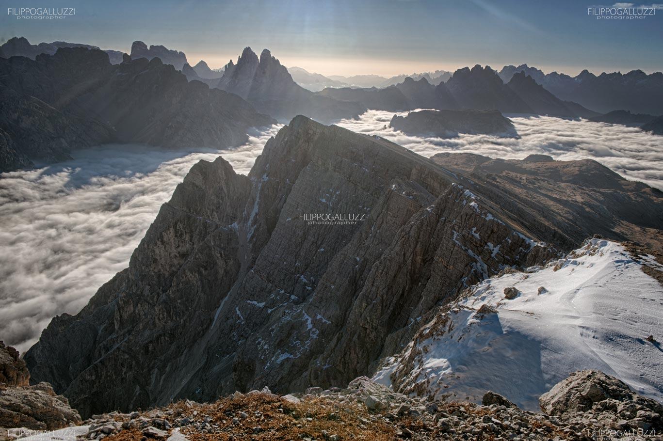 Alta Pusteria, PIcco di Vallandro, Alba sulle tre cime di lavaredo
