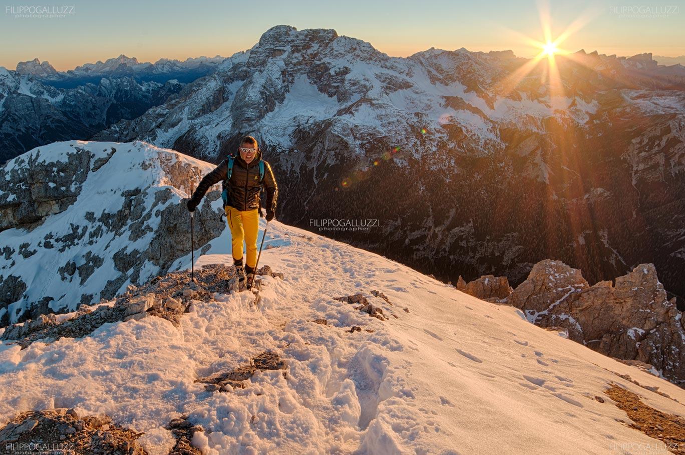 Sudtirol, Tramonto sul Picco di Vallandro, Alta Pusteria