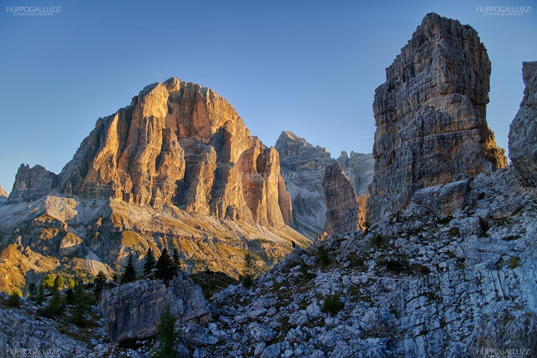 Dolomiti, Cortina di Ampezzo - alba sulla Tofana di Rozes