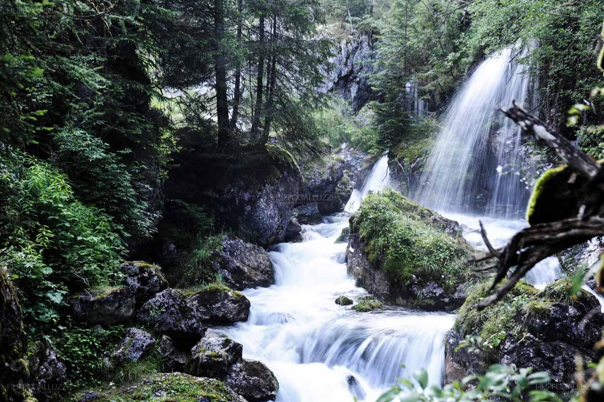Dolomiti, cascata