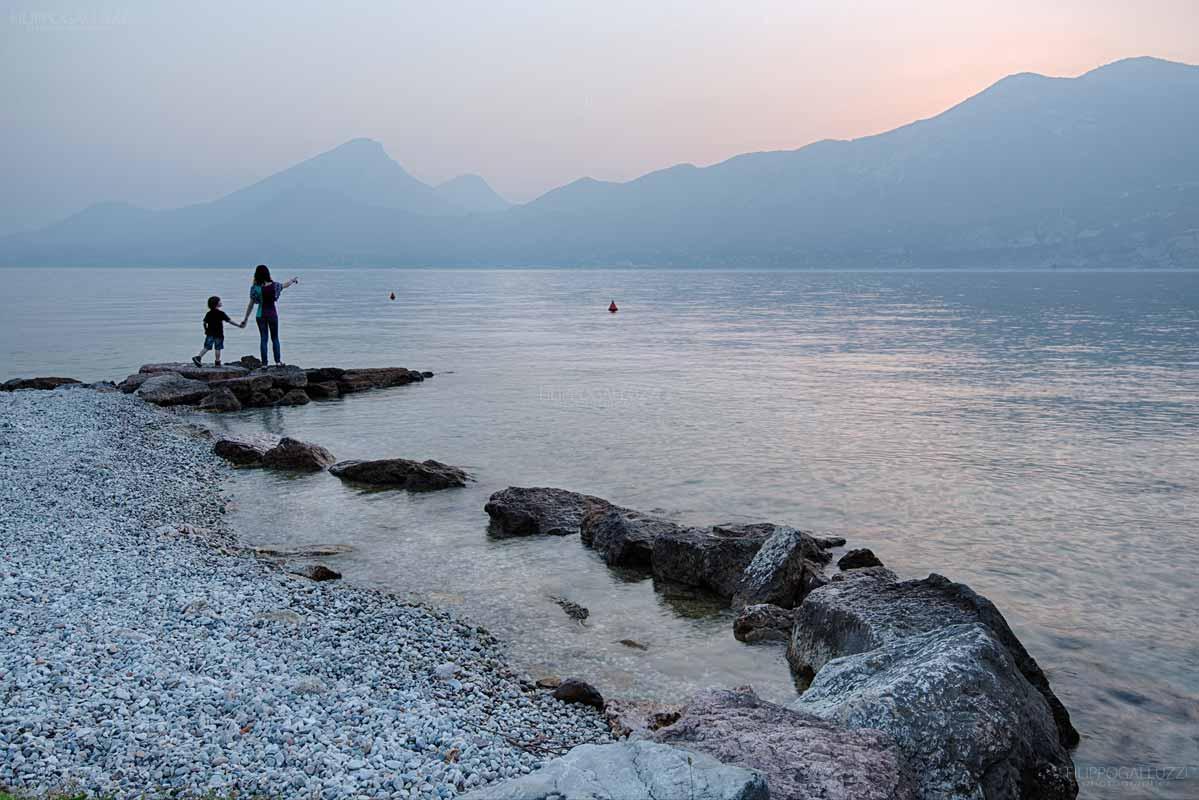 Tramonto nelle rive settentrionali del lago di Garda