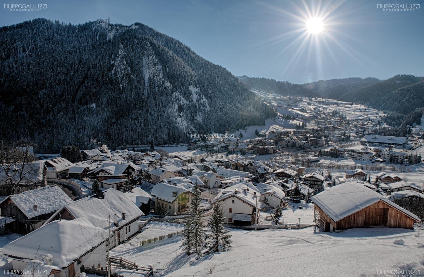 Alto Adige,Inverno su Corvara, Alta Badia,