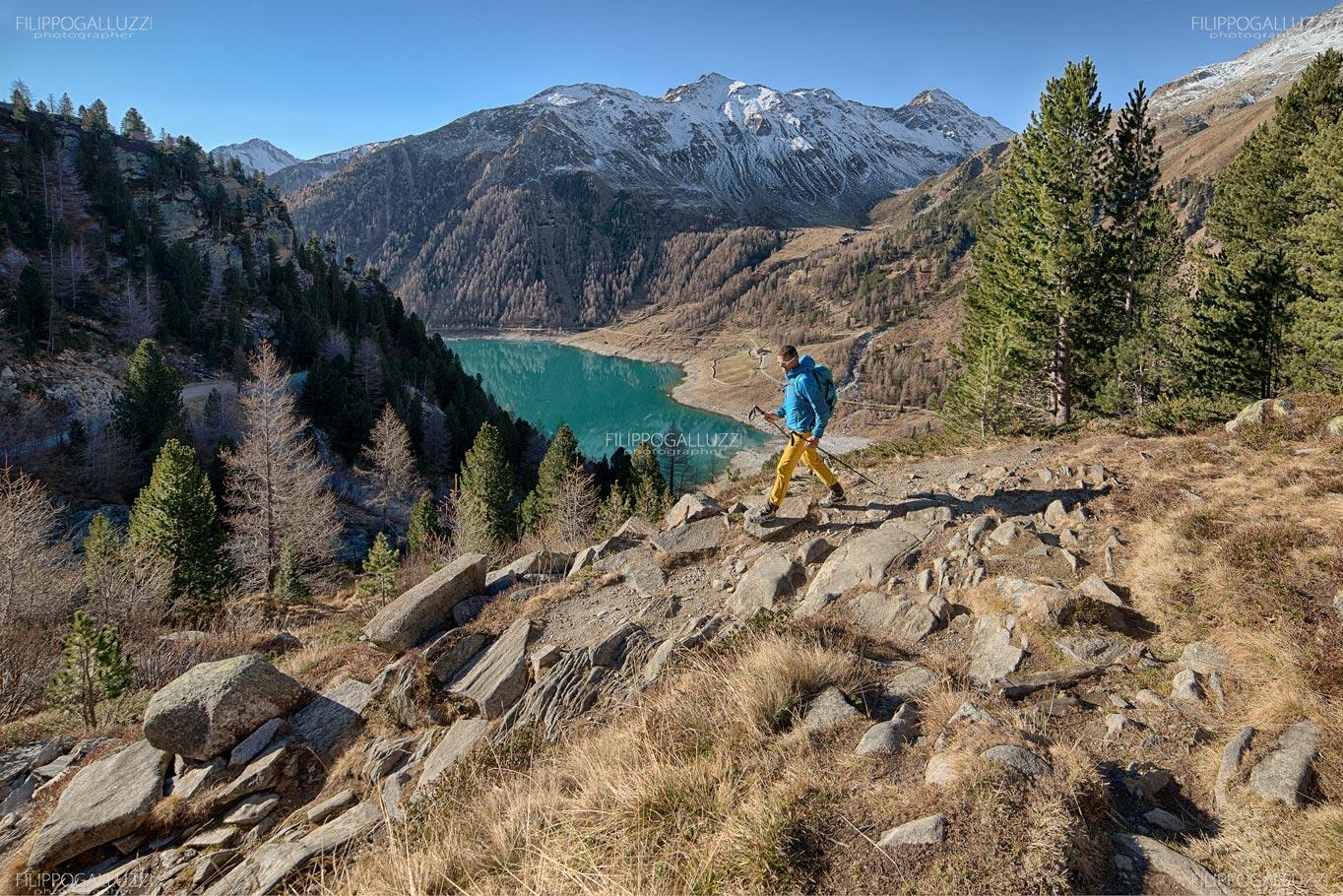 Trekking autunnale in valle Aurina, lago di Neves