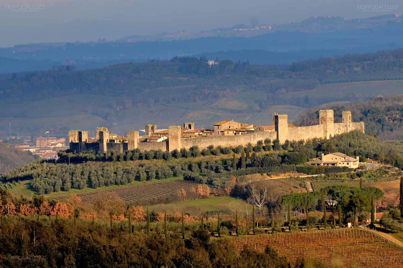 Toscana, il castello di Monteriggioni