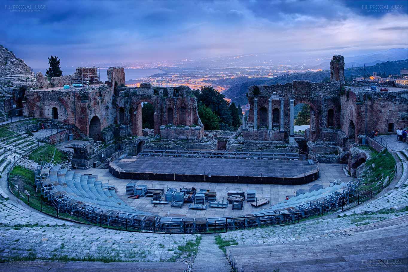 Sicilia, Taormina, il teatro Greco