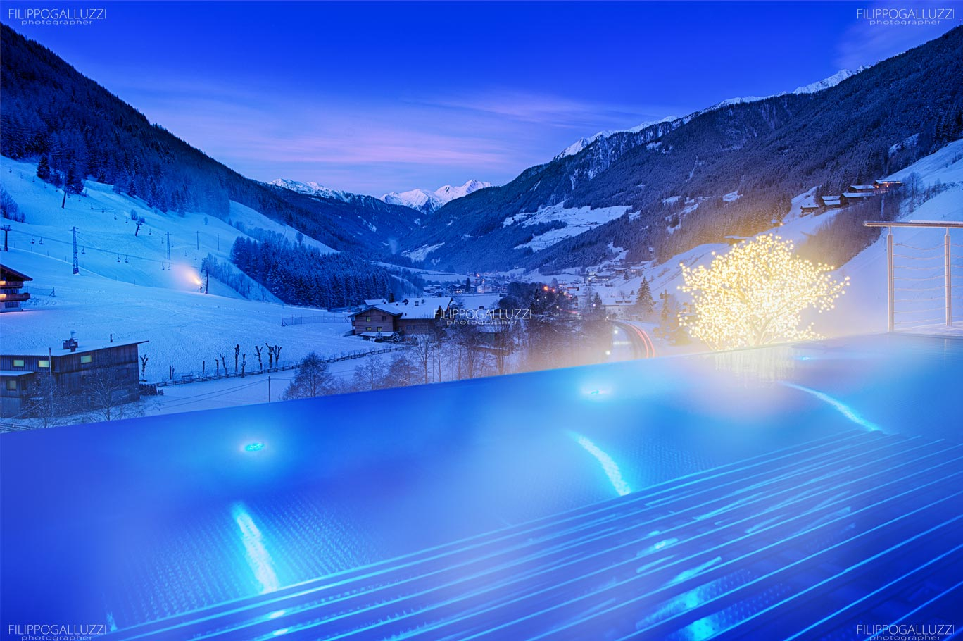 Fotografia Hotel Wellnes Sky Pool  Alpenschloessl & Linderhof Ahrntal