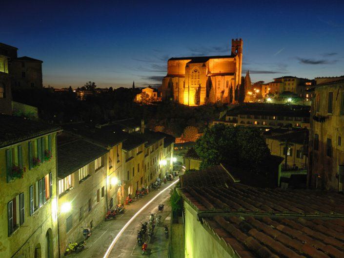 Night view of Siena